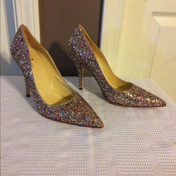 """d53cb611d720 kate spade Shoes - KATE SPADE """"Licorice Too"""" glitter heels!"""
